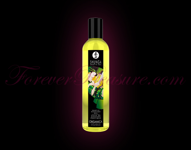 Shunga Organica Massage Oil - Green Tea (8oz)