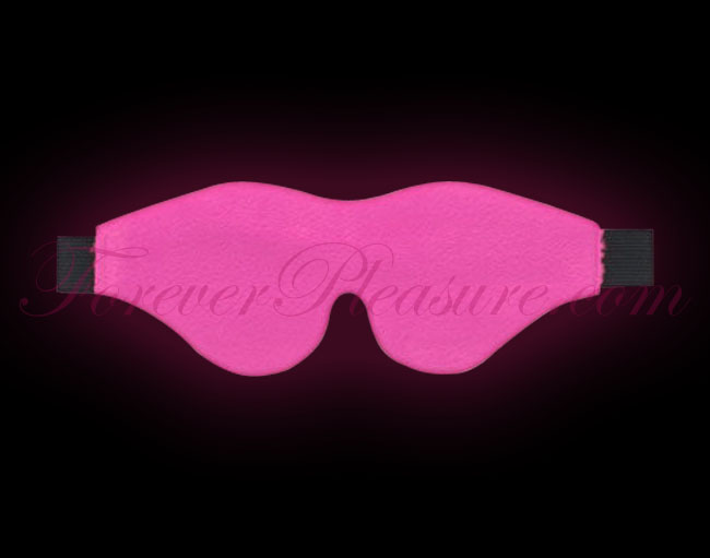 Sportsheets Leather Blindfold - Hot Pink