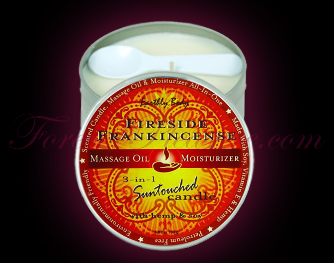 Earthly Body 3-in-1 Suntouched Candle - Fireside Frankinscence (