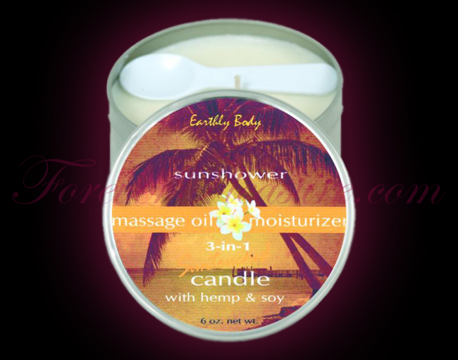 Earthly Body 3-in-1 Suntouched Candle - Sunshower (6oz)