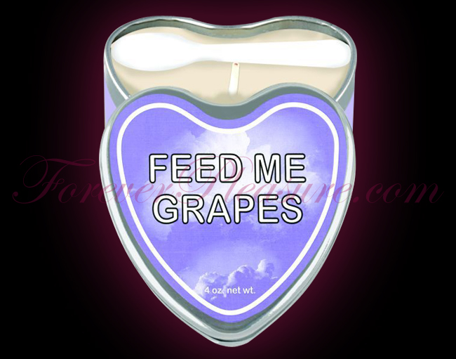 Earthly Body Suntouched Edible Candle - 4oz Feed Me Grapes
