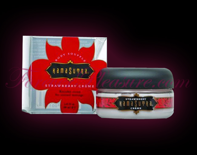 Kama Sutra Body Souffle - Strawberry Creme (2oz)