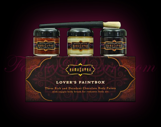 Kama Sutra Lover's Paintbox - 3 Chocolate Flavors w/ Brush