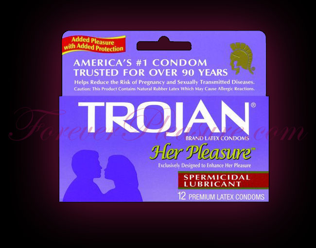 Trojan Her Pleasure Spermicidal (12 Pack)