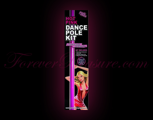 Peek-A-Boo Dance Pole Kit - Hot Pink