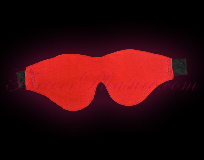 Sportsheets Leather Blindfold - Red